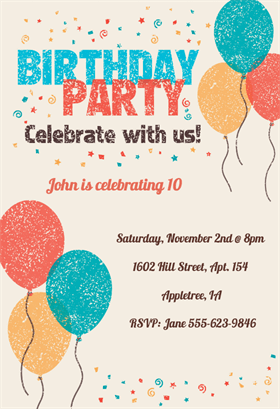 invitation for a party