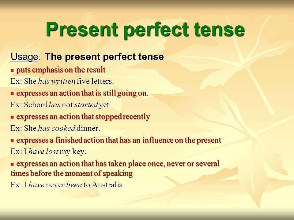 Present Perfect Tense Pictures to Pin on Pinterest - PinsDaddy