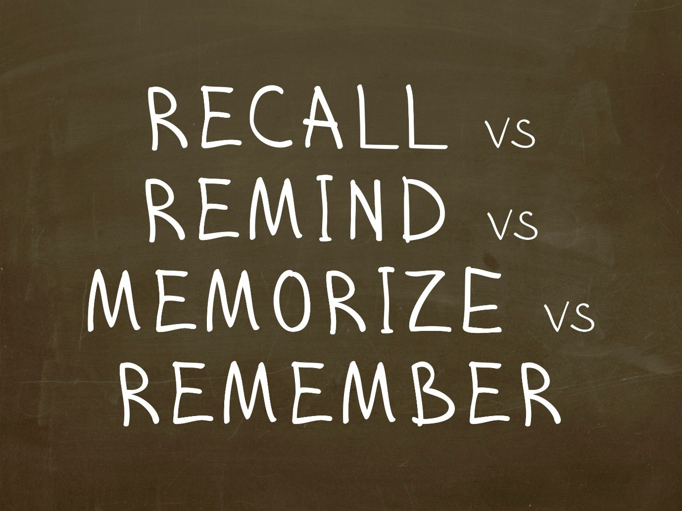Remember, Remind and Memorize