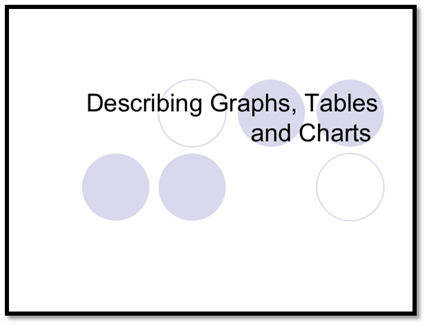describing graphstables and charts