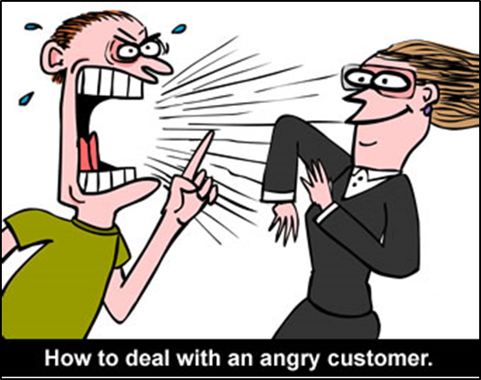 angry customer