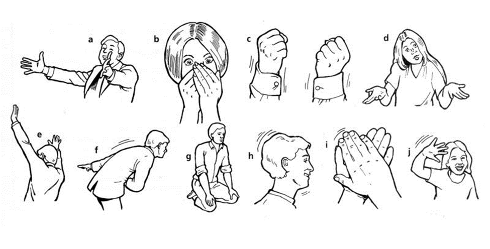 use gestures effectively