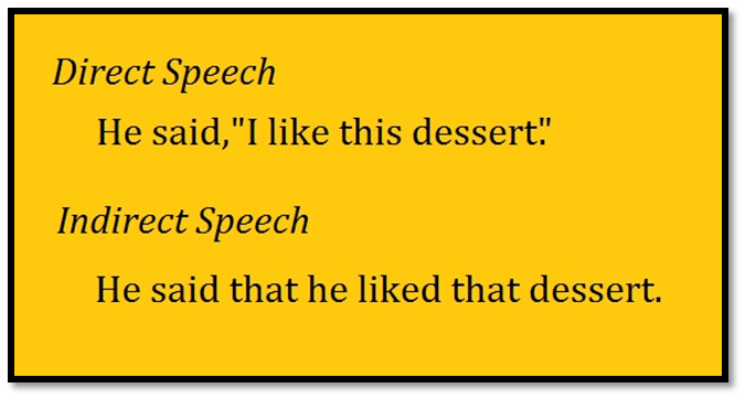 english-indirect speech