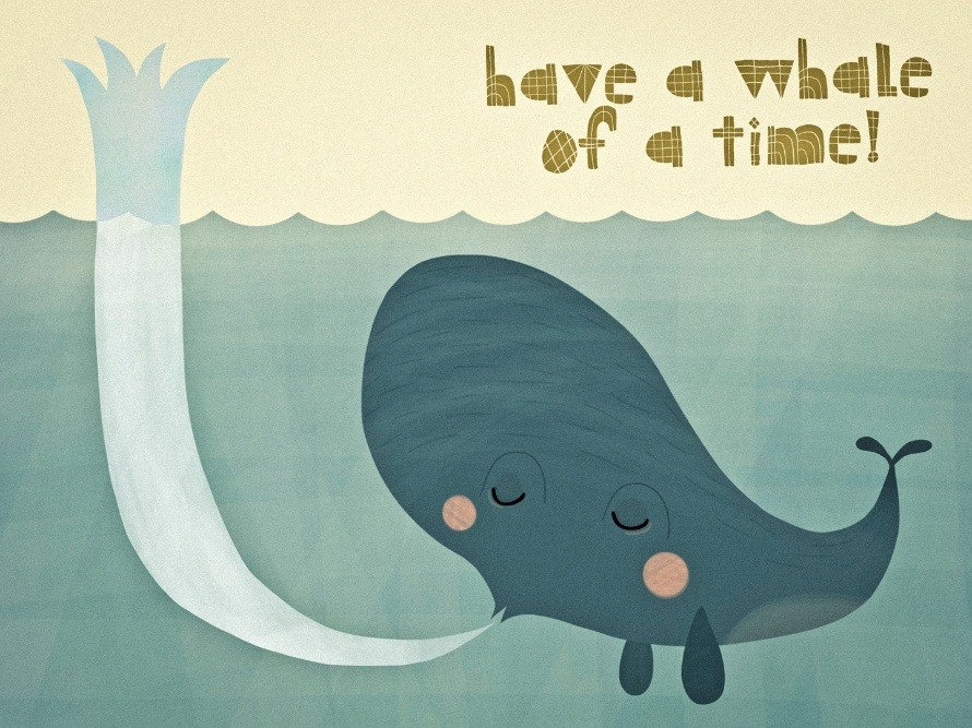 have a whale of time
