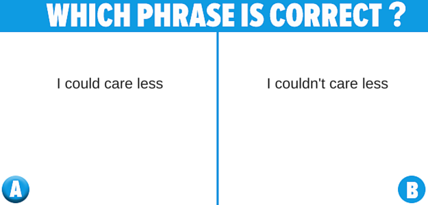 incorrectly said phrases