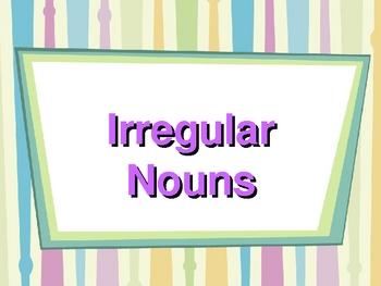 Singular and plural nouns including irregular plural nouns - eAge Tutor