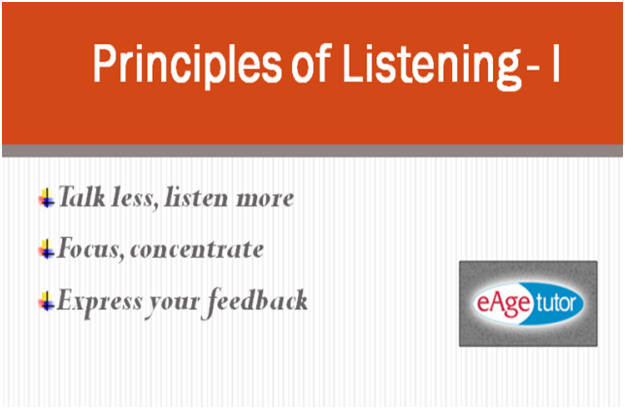 principles of effective speaking and listening skills Teaching listening and speaking: from theory to priority to finding more effective ways says about the nature of listening and speaking skills.